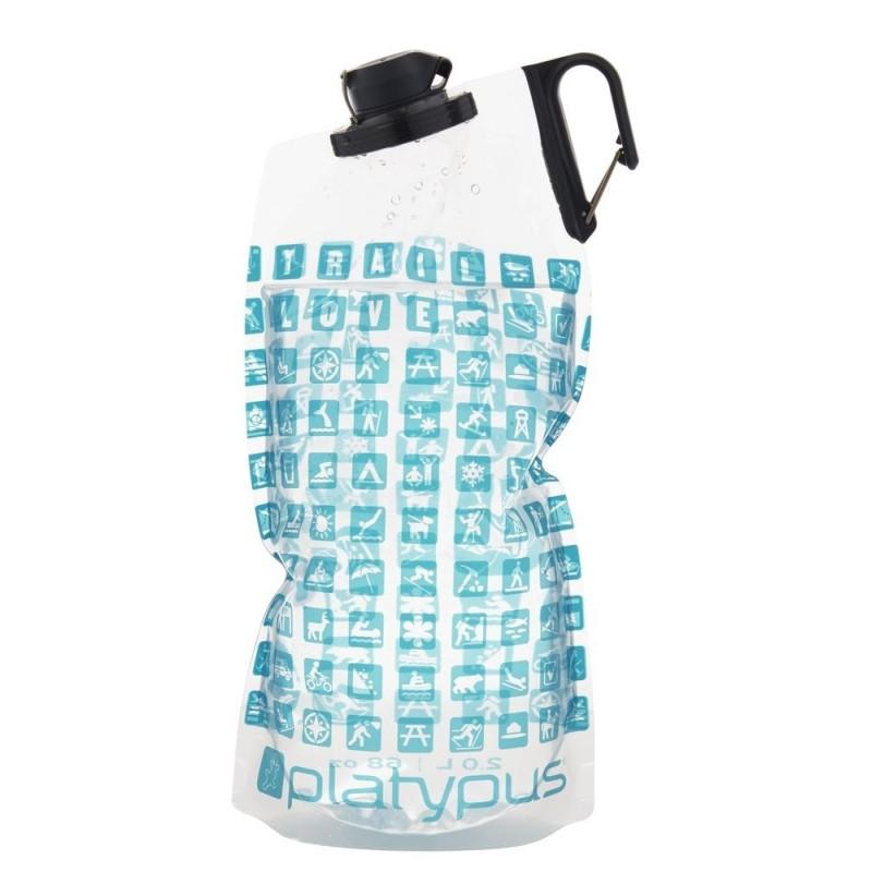 Platypus DuoLock SoftBottle 2 l Duolock - modro-biela vzor