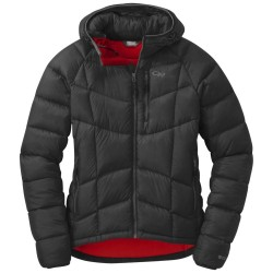 Outdoor Research Sonata Ultra Hooded Down Jacket black/flame