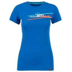 La Sportiva Stripe 2.0 T-shirt W marine blue/aqua