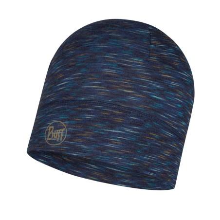 Lightweight Merino Wool Hat Buff - denim stripes