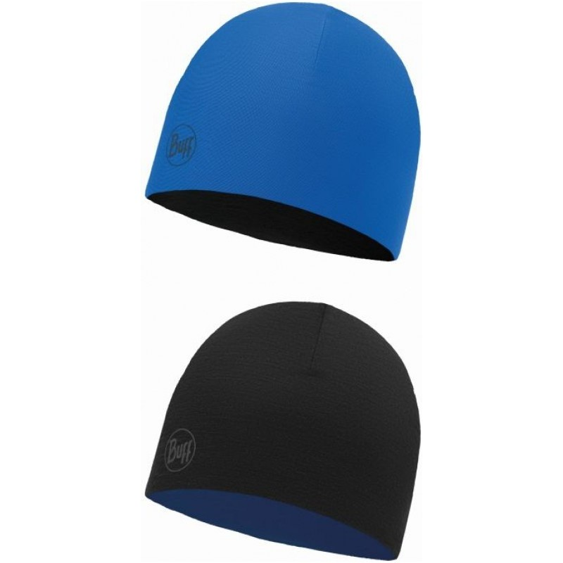Buff Merino Reversible Hat Junior & Kids - citric denim