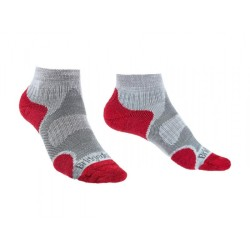 Bridgedale TRAIL SPORT LW Merino Cool Comfort Ankle - grey/raspberry