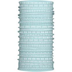 SPORTCOOL MULTIFUNKČNÝ ŠÁL - 7183 - vzor Čičmany -bledo modrá