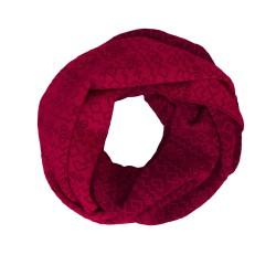 Sportcool Dámsky kruhový šál- bordová/červená