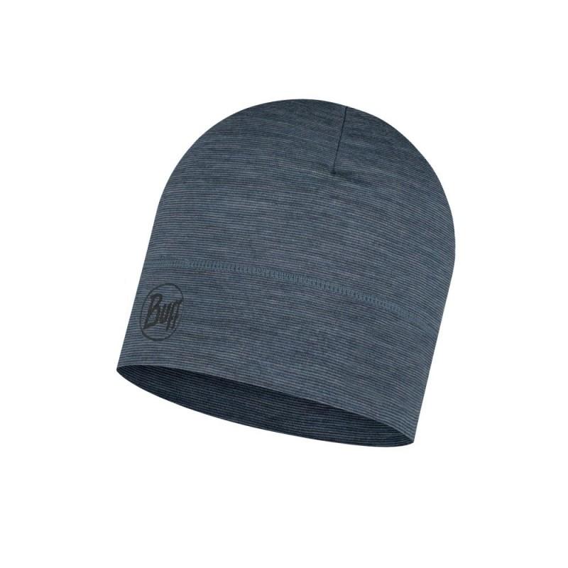 Buff Lightweight Merino Wool Hat - denim stripes