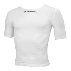 Tričko Outwet SHARK, krátky rukáv, biele