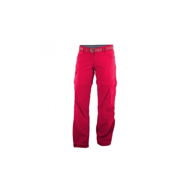 Warmpeace Rivera Zip-Off Lady nohavice rose red