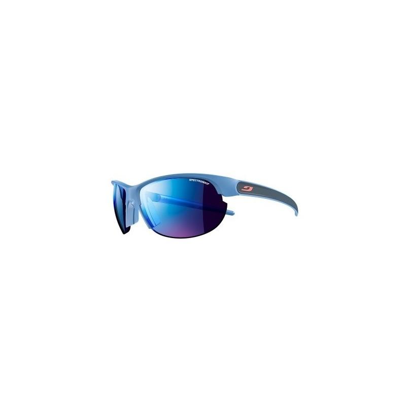 Julbo BREEZE Spectron3CF - BLUE / BLUE / logo coral