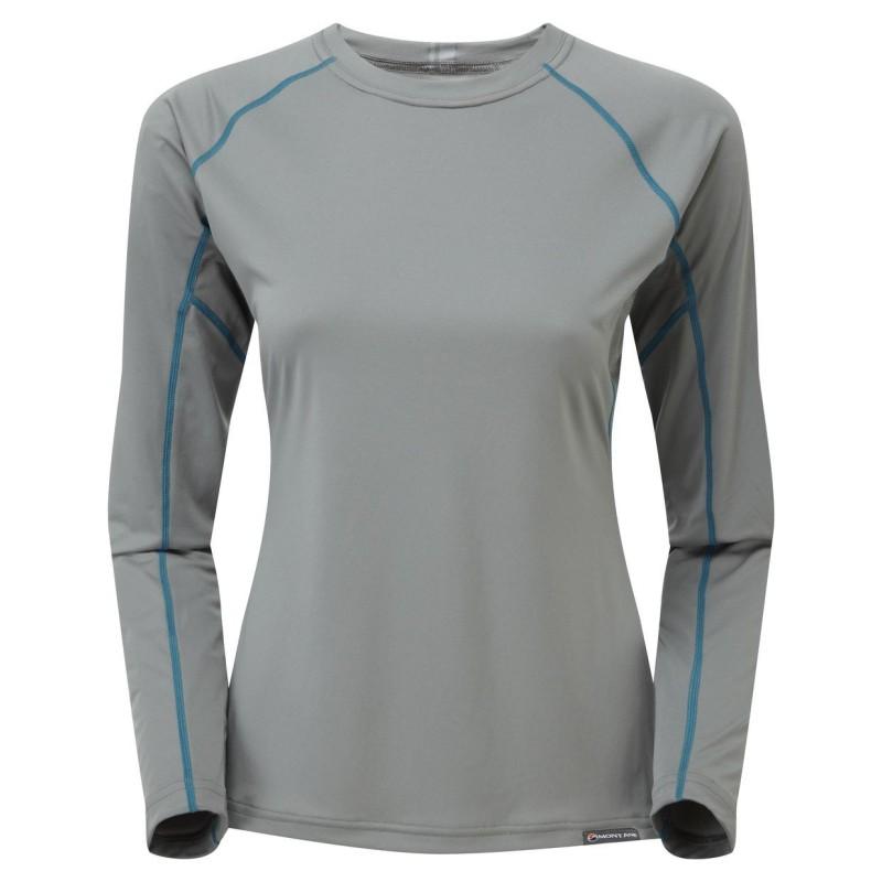 MONTANE Sonic Long Sleeve T-Shirt Lady šedé