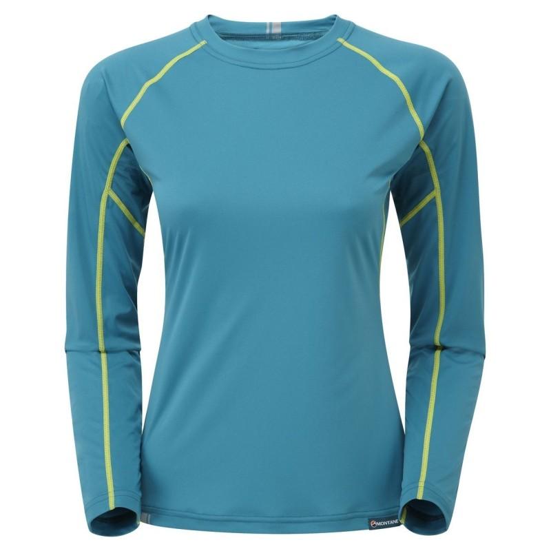 MONTANE Sonic Long Sleeve T-Shirt Lady modré