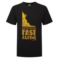 MONTANE  Fast Alpine T-Shirt čierne